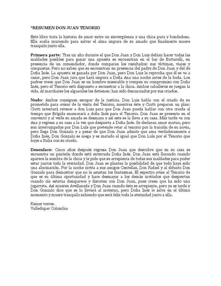 Resume de don juan tenorio generic ap us history essay rubric